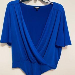 Express bodysuit in royal blue.